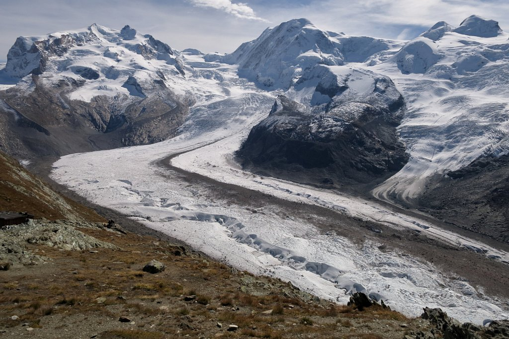 B - Monte Rosa and the Gornergletscher glacier